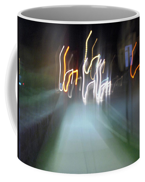 Photograph Coffee Mug featuring the photograph Crazy Lights by Thomas Valentine