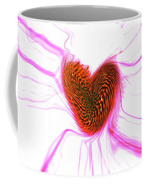 Abstract Art Coffee Mug featuring the digital art Crazy Love by Linda Sannuti