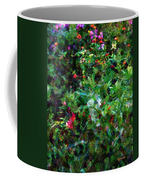 Garden Coffee Mug featuring the digital art Crazyquilt Garden by RC DeWinter