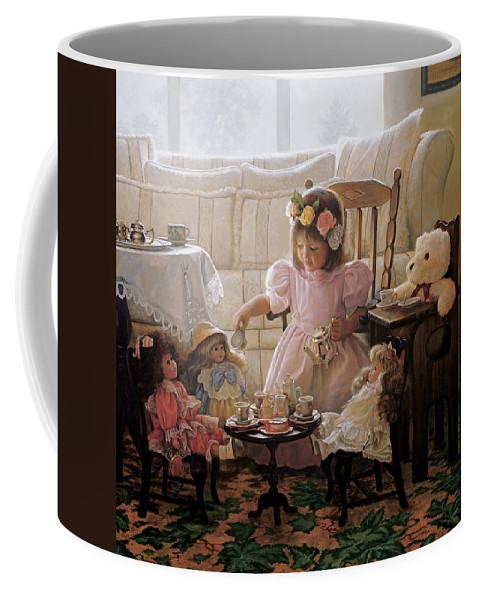 Girl Coffee Mug featuring the painting Cream and Sugar by Greg Olsen