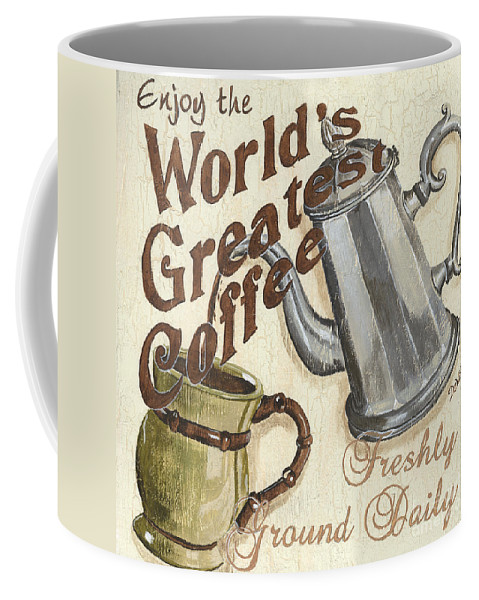 Coffee Coffee Mug featuring the painting Cream Coffee 1 by Debbie DeWitt