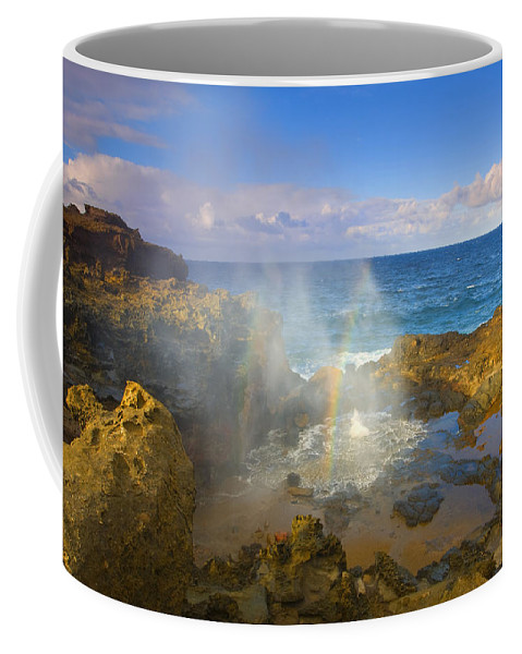 Blowhole Coffee Mug featuring the photograph Creating Miracles by Mike Dawson