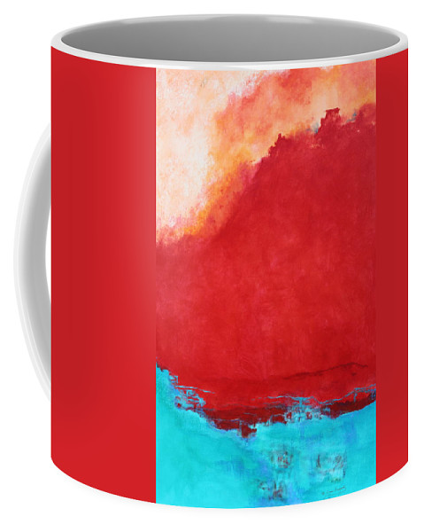 Red Coffee Mug featuring the painting Creation by M Diane Bonaparte