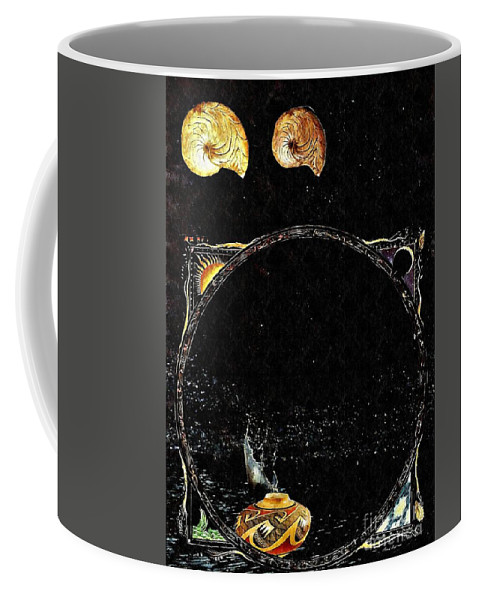 Water Coffee Mug featuring the mixed media Creation Of Water by Sarah Loft