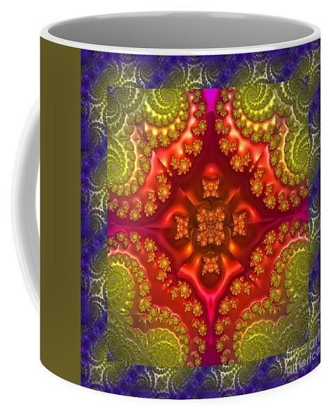 Digital Coffee Mug featuring the photograph Creative Energy Mandala by Anna Sheradon