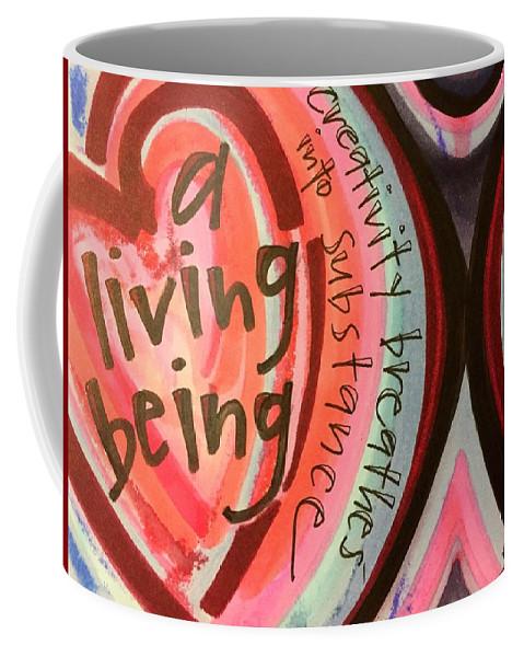 Creativity Coffee Mug featuring the painting Creativity Breathes by Vonda Drees