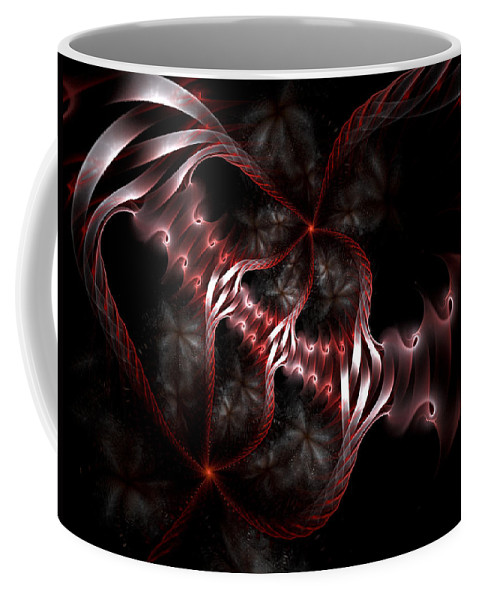Fractal Coffee Mug featuring the digital art Creatures of the Deep by Amorina Ashton