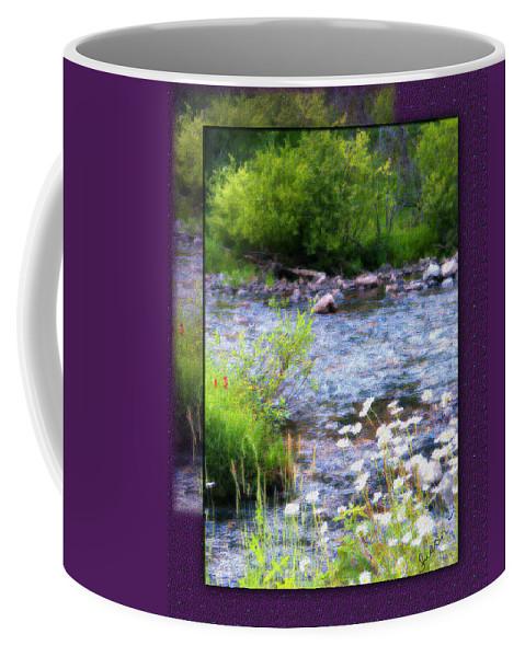 River Coffee Mug featuring the photograph Creek Daisys by Susan Kinney