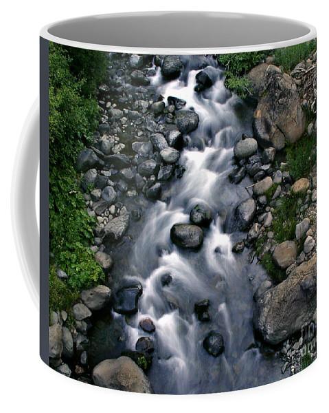 Creek Coffee Mug featuring the photograph Creek Flow by Peter Piatt