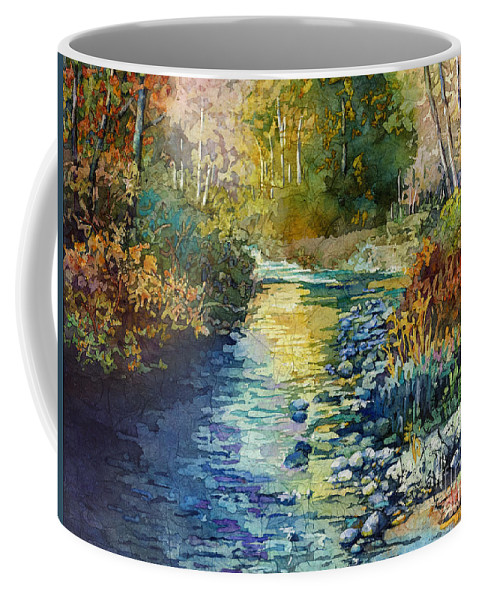 Creek Coffee Mug featuring the painting Creekside Tranquility by Hailey E Herrera