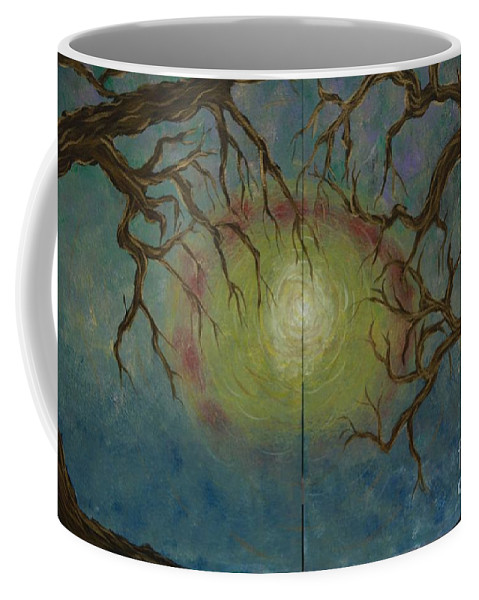 Tree Coffee Mug featuring the painting Creeping by Jacqueline Athmann