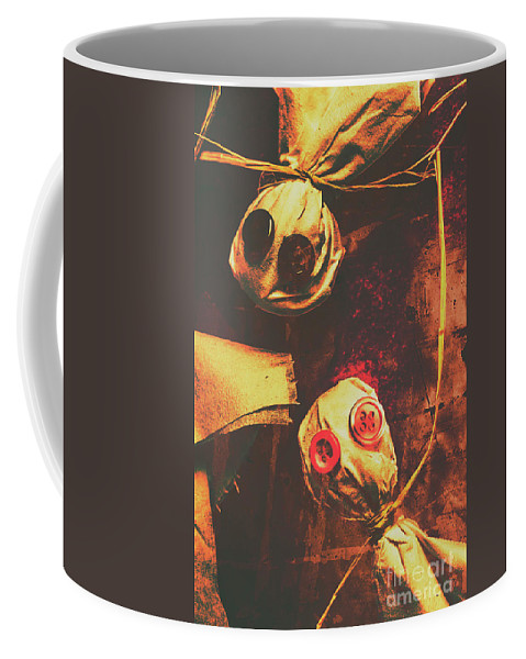 Scarecrows Coffee Mug featuring the photograph Creepy Halloween Scarecrow Dolls by Jorgo Photography - Wall Art Gallery