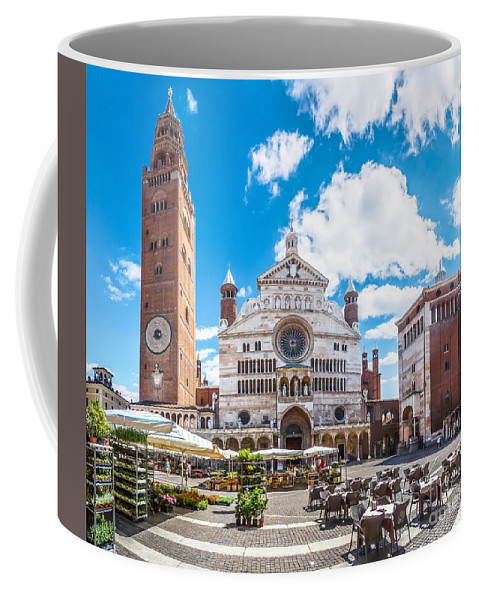 Piazza Duomo Coffee Mug featuring the photograph Cremona Market Square With Cathedral by JR Photography