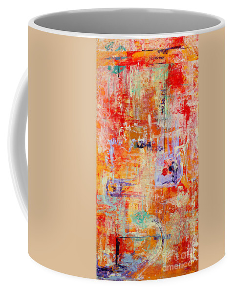 Large Format Painting Coffee Mug featuring the painting Crescendo by Pat Saunders-White