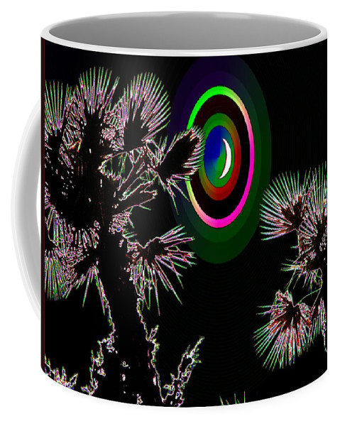 Crescent Coffee Mug featuring the photograph Crescent And Palms 3 by Tim Allen