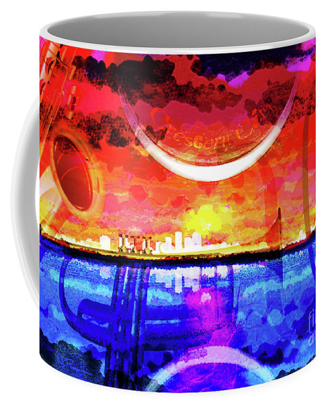 New Orleans Coffee Mug featuring the digital art Crescent City by Neil Finnemore