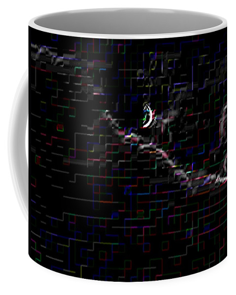 Moon Coffee Mug featuring the photograph Crescent Rising by Tim Allen