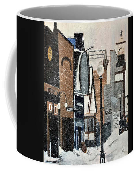 Snow Coffee Mug featuring the painting Crested Butte In The 80's by Julie Wittwer