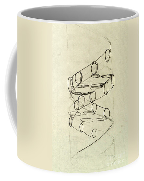 Dna Coffee Mug featuring the photograph Cricks Original Dna Sketch by Science Source
