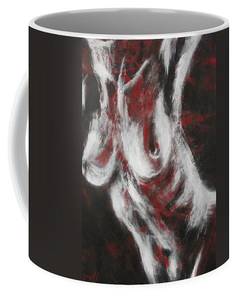 Original Coffee Mug featuring the painting Crimson Red by Carmen Tyrrell
