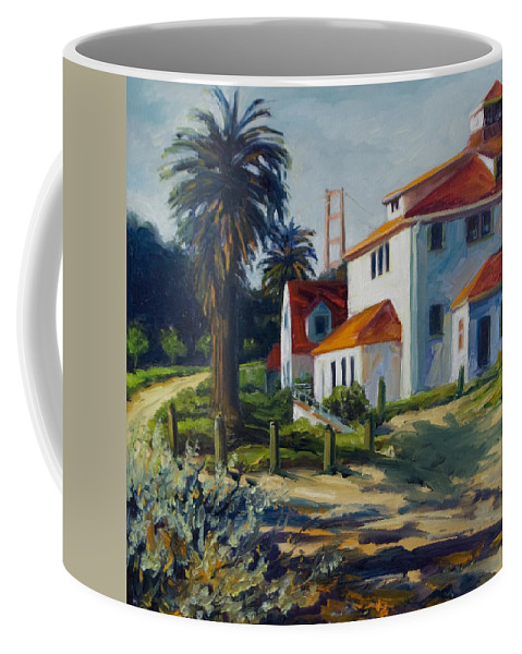 San Francisco Coffee Mug featuring the painting Crissy Field by Rick Nederlof