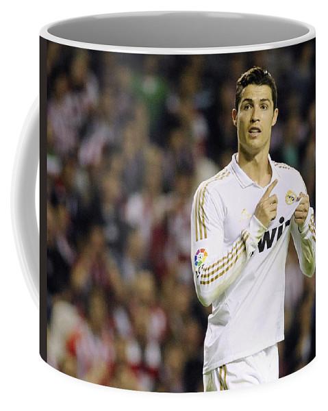 Cristiano Ronaldo Coffee Mug featuring the photograph Cristiano Ronaldo 4 by Rafa Rivas