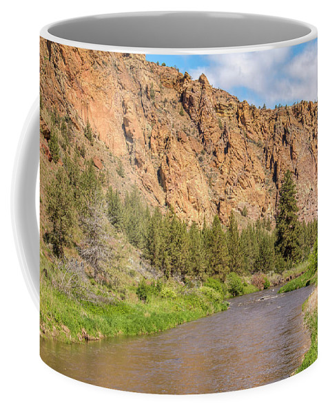 Landscape Coffee Mug featuring the photograph Crooked River II by Kristina Rinell
