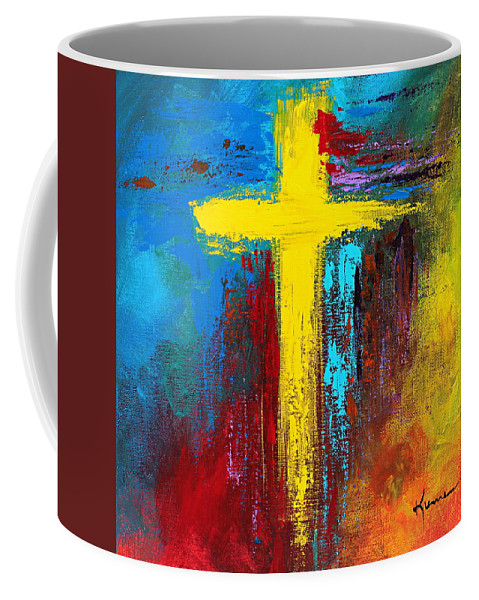 Christian Coffee Mug featuring the painting Cross No.2 by Kume Bryant