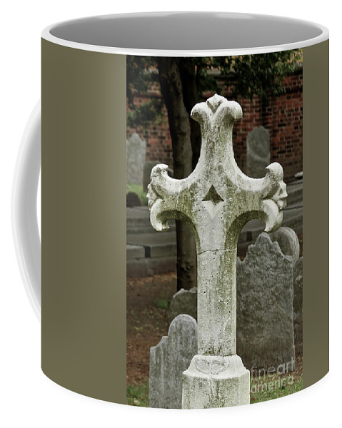 Cross Coffee Mug featuring the photograph Cross Of Old by Rick Monyahan