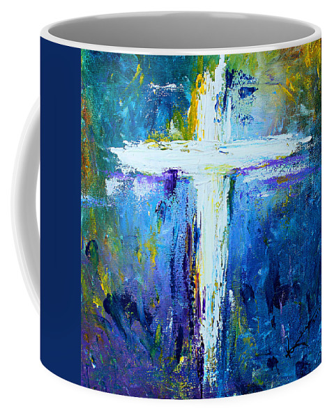 Christian Coffee Mug featuring the painting Cross - Painting #4 by Kume Bryant