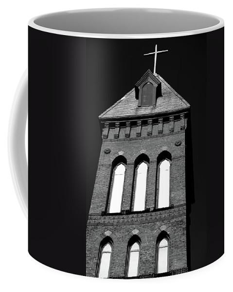 Church Coffee Mug featuring the photograph Cross Tower by Karol Livote
