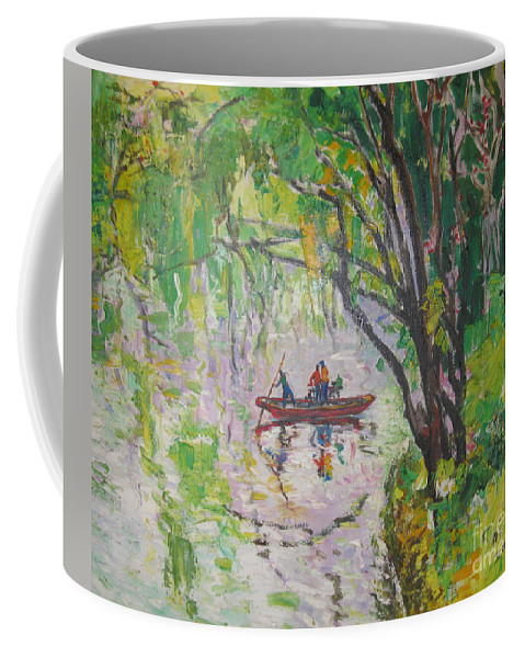 Crossing Coffee Mug featuring the painting Crossing by Guanyu Shi
