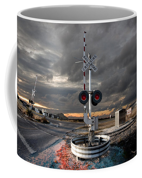 Grunge Coffee Mug featuring the photograph Crossing Guard by Steven Hlavac