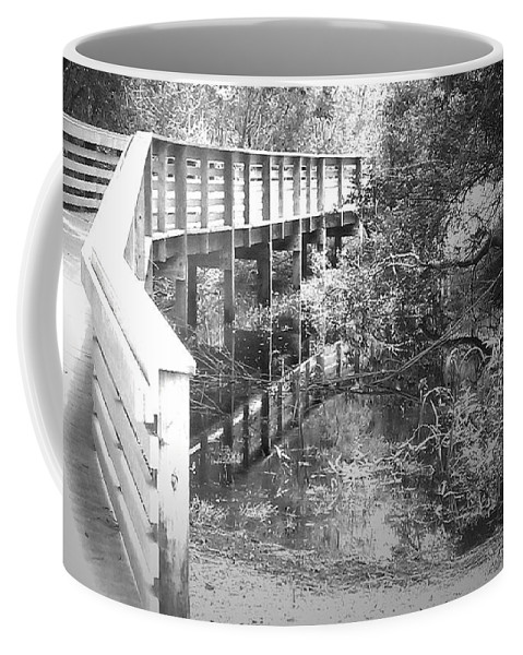 Bridge Coffee Mug featuring the photograph Crossing Over by Tamivision