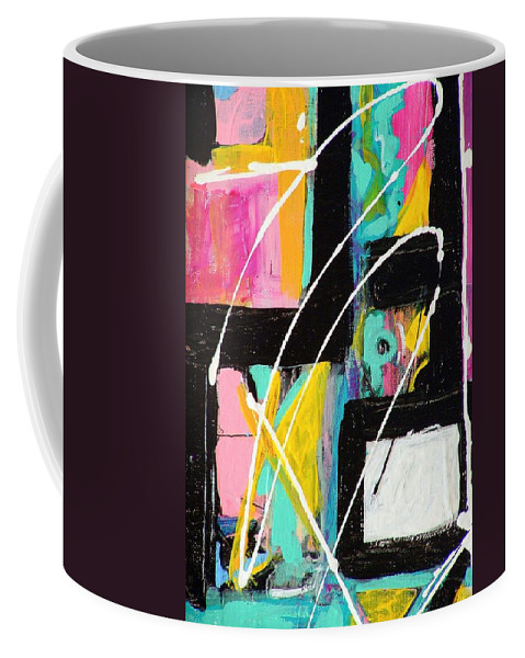 Abstract Coffee Mug featuring the painting Crossing Paths by Kathy Augustine