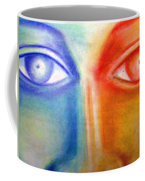 Coffee Mug featuring the drawing Crossroads by Jan Gilmore