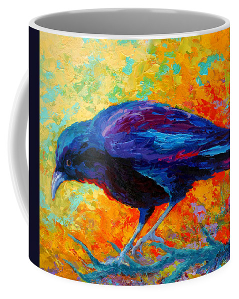 Crows Coffee Mug featuring the painting Crow IIi by Marion Rose