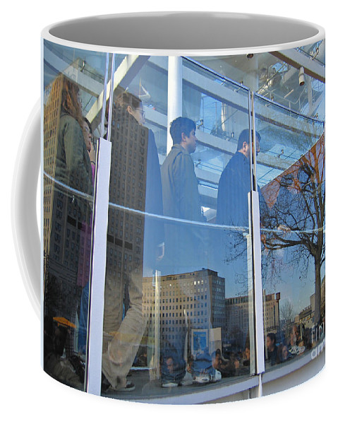 London Coffee Mug featuring the photograph Crowd Queuing Up by Ann Horn