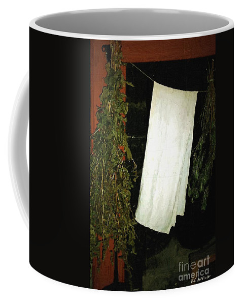 Americana Coffee Mug featuring the painting Crowded Hearth by RC DeWinter