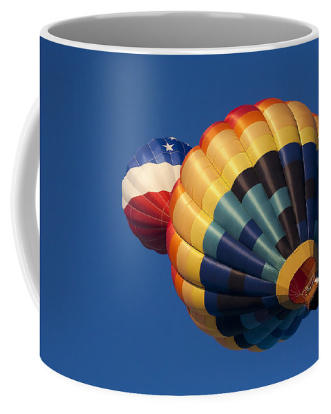 Balloon Coffee Mug featuring the photograph Crowded Pattern by Mike Dawson