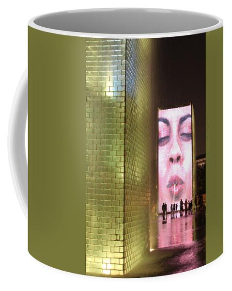 Crown Fountain Coffee Mug featuring the photograph Crown Fountain At Millennium Park by Lauri Novak