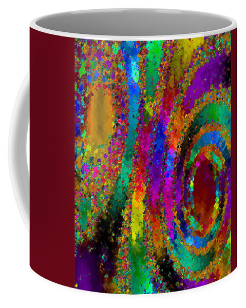 Abstract Coffee Mug featuring the digital art Crown Jewels by Ruth Palmer