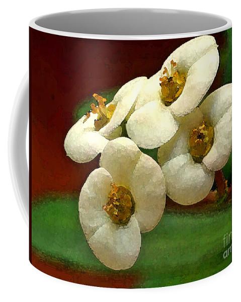 Flowers Coffee Mug featuring the photograph Crown Of Thorns by Deborah Benoit