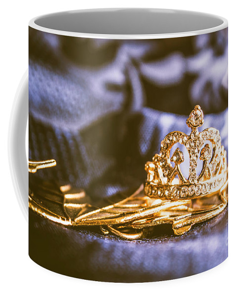 Monarch Coffee Mug featuring the photograph Crowned Tiara Jewellery by Jorgo Photography - Wall Art Gallery