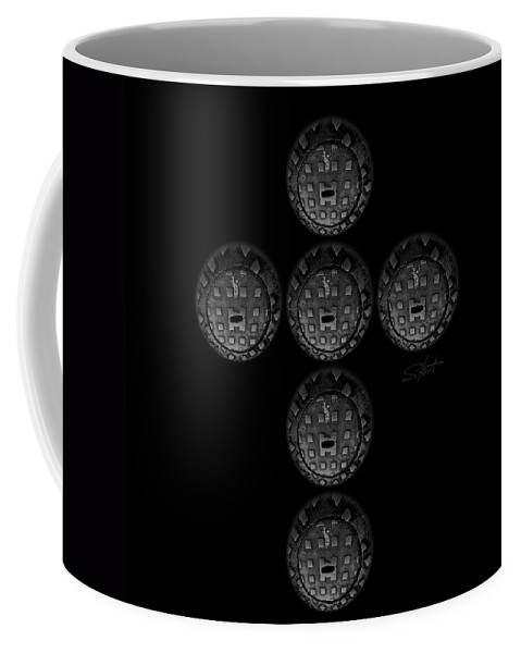 Cross Coffee Mug featuring the photograph Cruciform by Charles Stuart