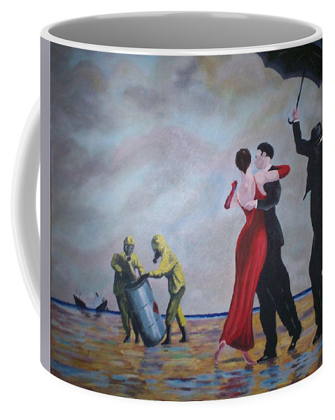 Jack Vettriano Coffee Mug featuring the painting Crude Oil by Gary Hogben