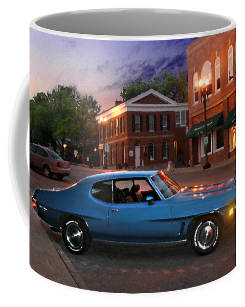 Landcape Coffee Mug featuring the photograph Cruise Night In Liberty by Steve Karol