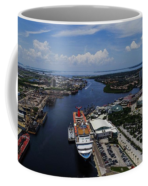Cruise Coffee Mug featuring the photograph Cruise Ship by Patrick Donovan
