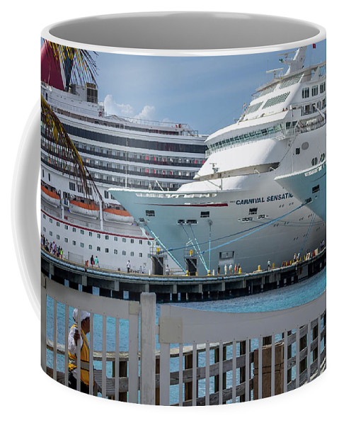 Mexico Coffee Mug featuring the photograph Cruise Ship Trio by Fred Boehm