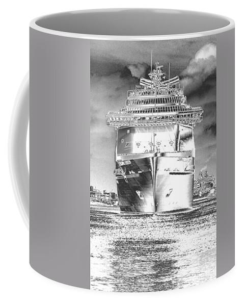 Cruising Coffee Mug featuring the photograph Cruise Ships In Chrome by Carol Groenen